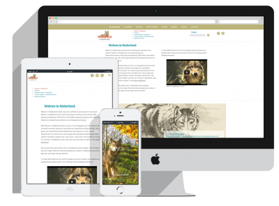 Responsive Afbeeldingen Website Wolven in Nederland